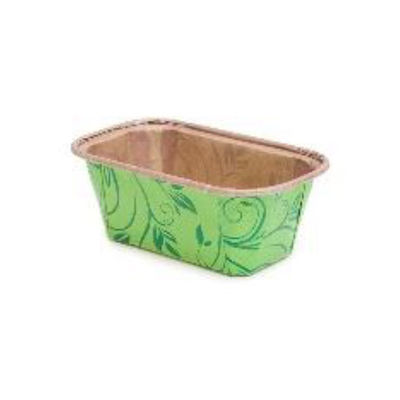 ECOPACK PLUM LOAF PAN MOULD GREEN 80X40 10PC