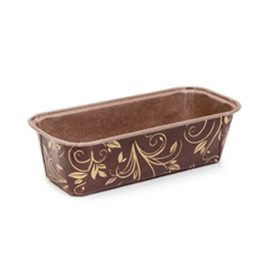 ECOPACK PLUM LOAF PAN MOULD BROWN/GOLD 80X40 10PC