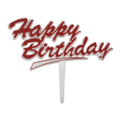 REDMAN HAPPY BIRTHDAY CLEAR TAG (RED) 5PCS