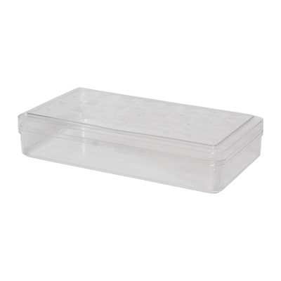 FUFONG CLEAR RECTANGLE PS CONTAINER 118X228XH46MM FF2701