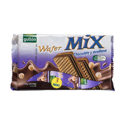 GULLON CHOCOLATE HAZELNUT WAFER 210G [Best Before:01-11-21]