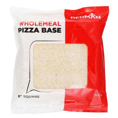 "REDMAN SQUARE WHOLEMEAL PIZZA BASE 8"" 5PC"