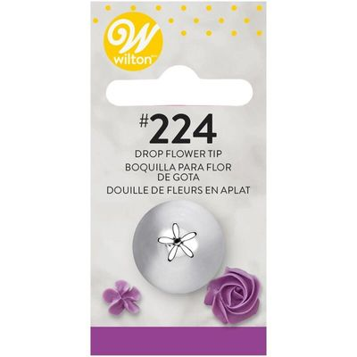 WILTON PIPING TIP DROP FLOWER #224 CARDED