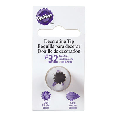WILTON PIPING TIP OPEN STAR #32 CARDED