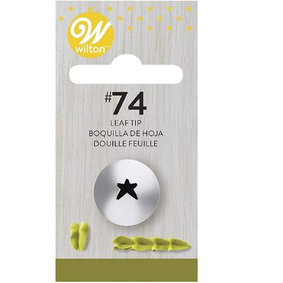 WILTON CARDED PIPING TIP LEAF #74 418-74