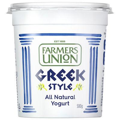 FARMER UNION GREEK STYLE YOGHURT 500G [Best Before:11-10-21]