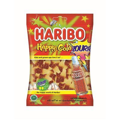HARIBO SOUR FRESH HAPPY COLA CANDY 80G