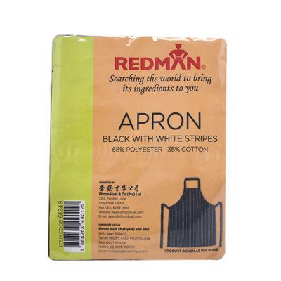 REDMAN WHITE STRIPS BLACK COTTON APRON