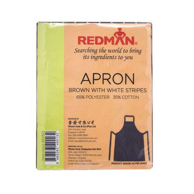 REDMAN WHITE STRIPS BROWN COTTON APRON