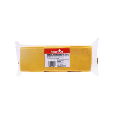 REDMAN PROCESSED SMOKEY CHEDDAR CHEESE SLICE (84PC) 1KG
