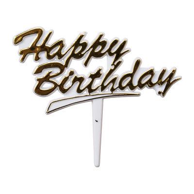 REDMAN HAPPY BIRTHDAY TAG (GOLD-WHITE) 5PCS