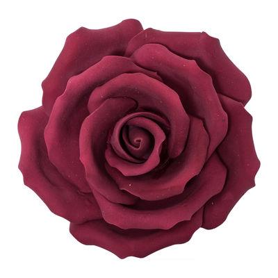 GUMPASTE FLOWER-(L) ROSE MAROON JWRL 10X10CM