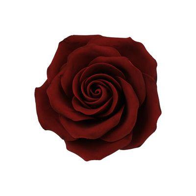 GUMPASTE FLOWER-(L) ROSE MAROON RYLYB 9X9CM