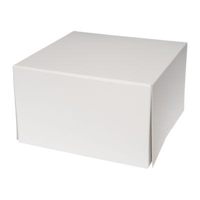 "REDMAN CAKE BOX PLAIN WHITE 10X10X6"" 2PCS"