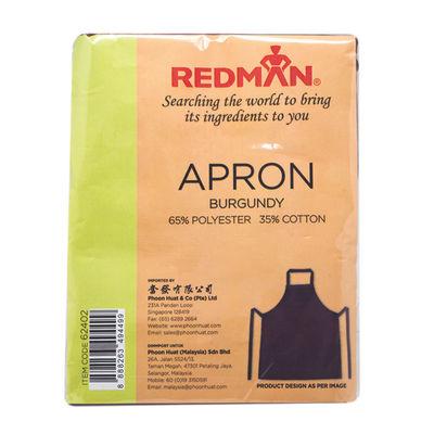 REDMAN BURGUNDY COTTON APRON
