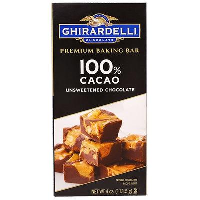 GHIRARDELLI UNSWEETENEED 100% CACAO BAKING BAR 4OZ