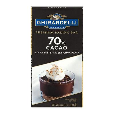 GHIRARDELLI BITTERSWEET 70% COCOA BAKING BAR 4OZ