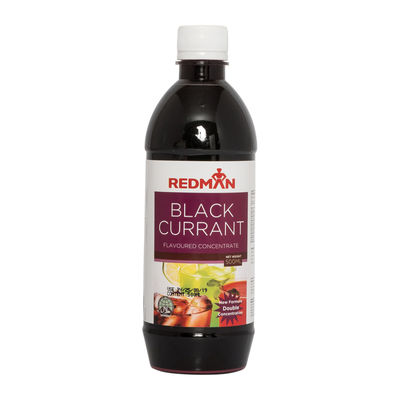 REDMAN BLACKCURRANT FLAVOURED CONCENTRATE 500ML