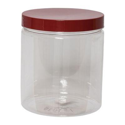 REDMAN ROUND PET CONTAINER RED CAP 820ML