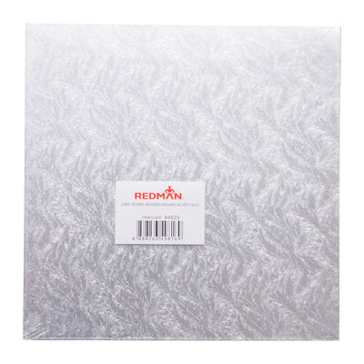 """REDMAN WOODEN CAKEBOARD SQUARE SILVER 12"""""""