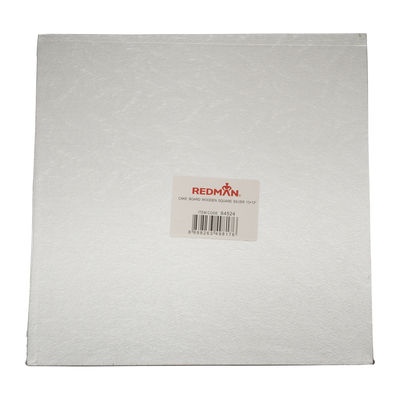 """REDMAN WOODEN CAKEBOARD SQUARE SILVER 13"""""""
