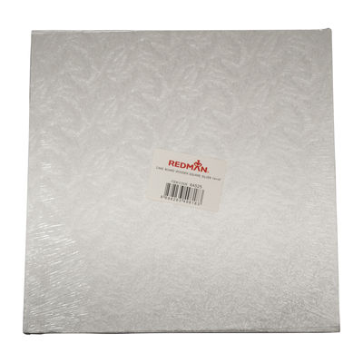 """REDMAN WOODEN CAKEBOARD SQUARE SILVER 14"""""""