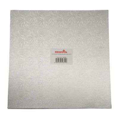 """REDMAN WOODEN CAKEBOARD SQUARE SILVER 15"""""""