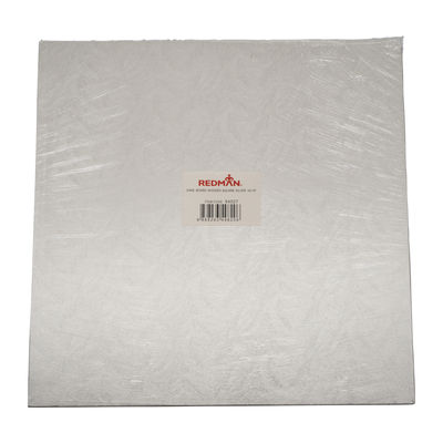 """REDMAN WOODEN CAKEBOARD SQUARE SILVER 16"""""""