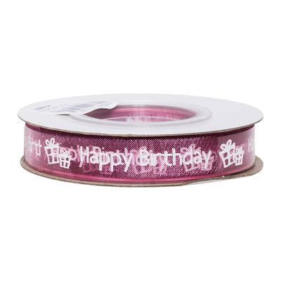 REDMAN RIBBON PINK HAPPY BIRTHDAY 13MMX25M