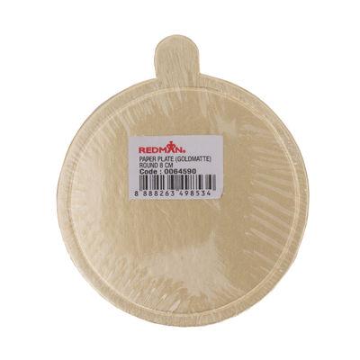 REDMAN PAPER PLATE (GOLD) RD 8CM