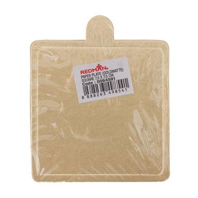 REDMAN PAPER PLATE (GOLD) 7.5X7.5CM