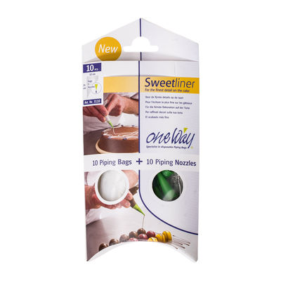 """ONEWAY DISPOSABLE PIPING BAG W NOZZLE 8.5"""" (PKT)"""