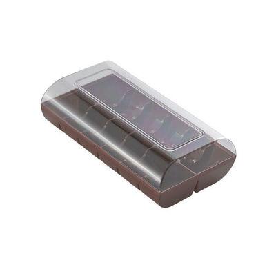 SILIKOMART BOX PLASTIC MACARON 12 BROWN