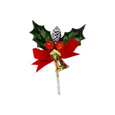 REDMAN CHRISTMAS LEAF WITH ACORN & BELL C341 5PCS