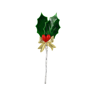 REDMAN CHRISTMAS HOLLY M WITH BOW C084 5PCS