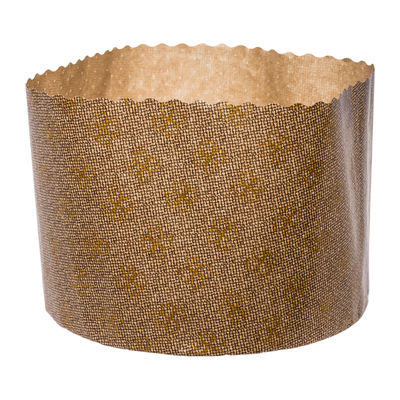 ECOPACK PANETTONE PAPER MOULD GOLD 134X95MM 10PC