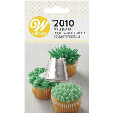 WILTON CARDED PIPING TIP TRIPLE STAR #12 418-9617