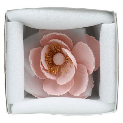 GUMPASTE FLOWER- (L)POPPY PINK GOLD STAM 12X12CM
