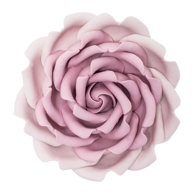 GUMPASTE FLOWER-REBECCA ROSE DUSTYPINK 10X10CM