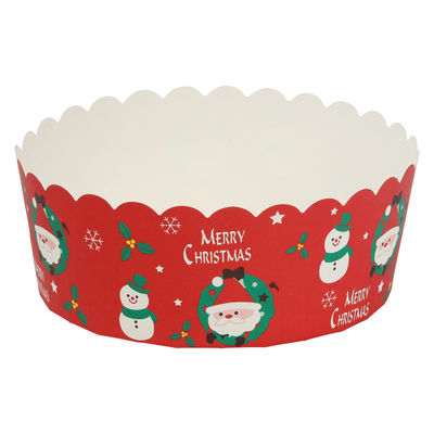 BRAVO PAPER MOULD ROUND XMAS RED