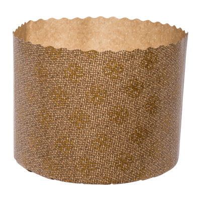 ECOPACK PANETTONE PAPER MOULD GOLD 110X85MM 10PC