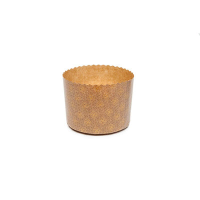 ECOPACK PANETTONE PAPER MOULD GOLD 165X135MM 10PC
