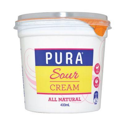 PURA FULL FAT SOUR CREAM 400ML