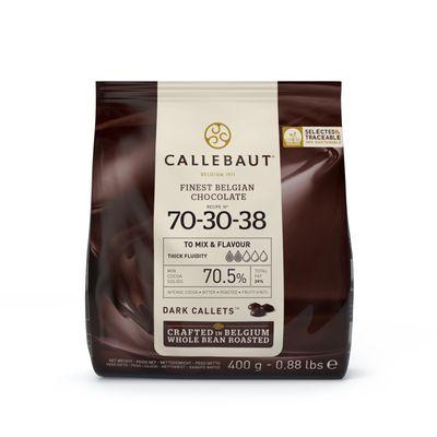 CALLEBAUT DARK CHOCOLATE COUVERTURE 70.5% 400G