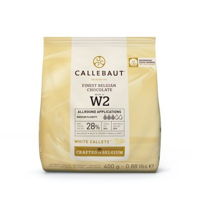 WHITE CHOCOLATE COUVERTURE 28% 400G