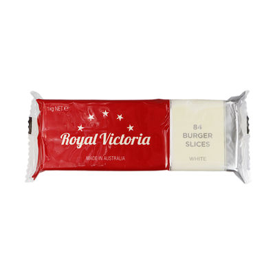 ROYAL VICTORIA CHEDDAR CHEESE PROCESSED SLICE WT (84PC) 1KG