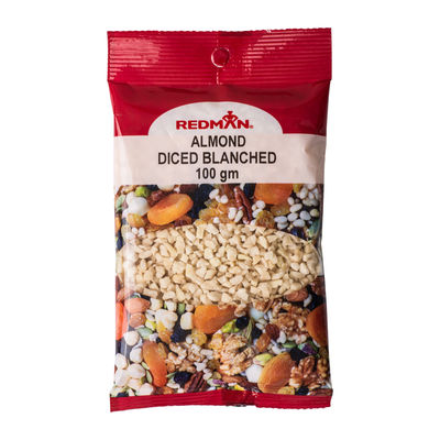 REDMAN BLANCHED DICED ALMOND  100G