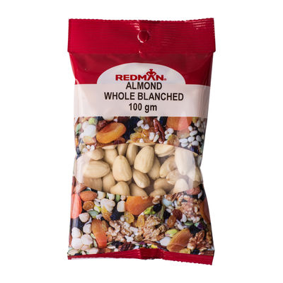 REDMAN NUT ALMOND BLANCHED WHOLE 100G