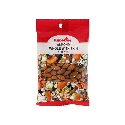 REDMAN WHOLE ALMOND WITH SKIN 100G