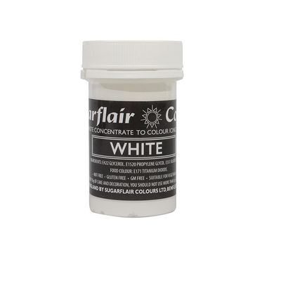 SUGARFLAIR COLOR CONCENTRATED PASTE-WHITE 25G